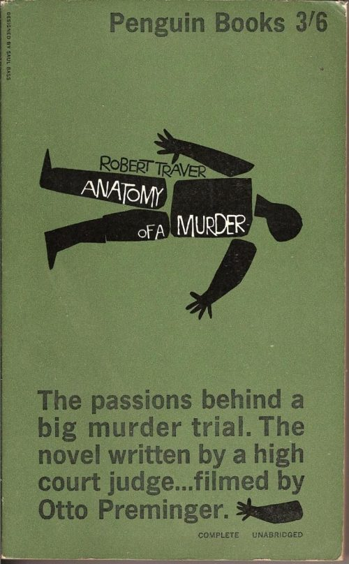 Graphic Design | Saul Bass – Penguin Cover – Anatomy of A Murder