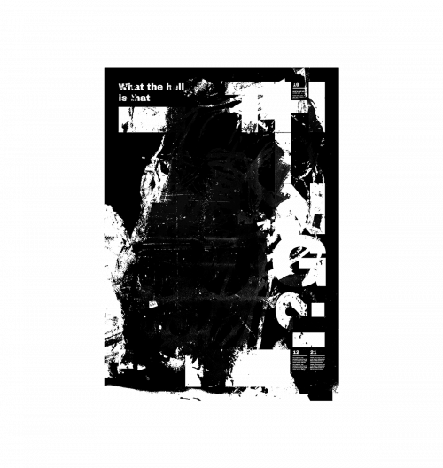 Roman Post | Black & White Minimal Poster Design