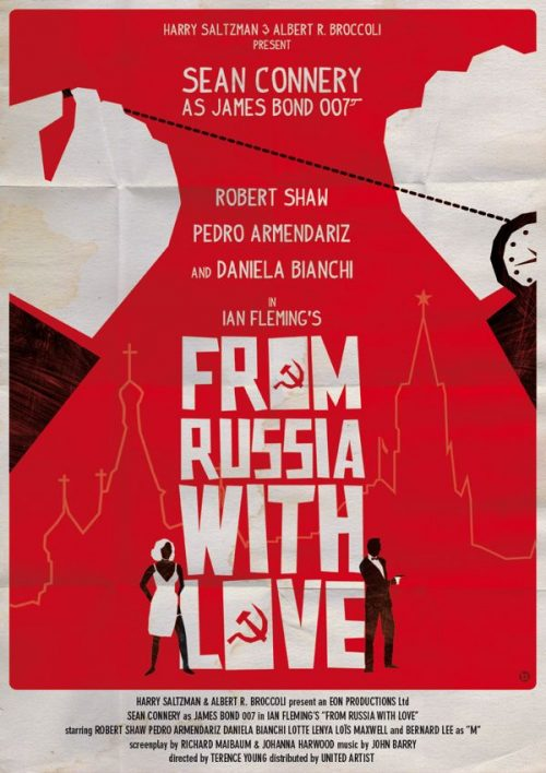 Graphic Design | Saul Bass – From Russia With Love Key Art