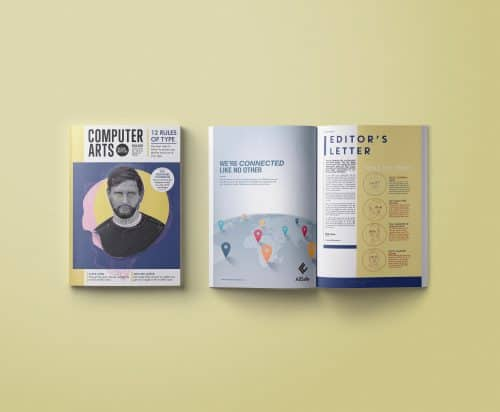 Computer Arts Magazine layout design