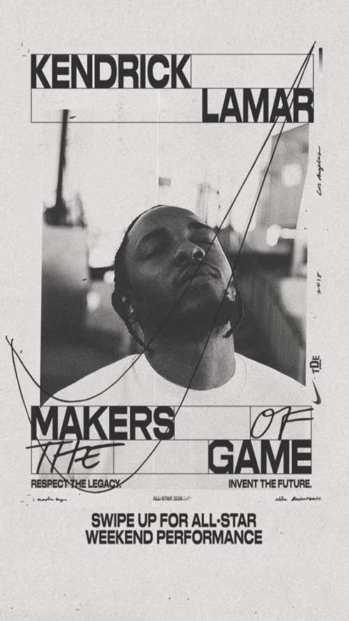 Graphic Design | Poster | Makers of the Game with Kendrick Lamar