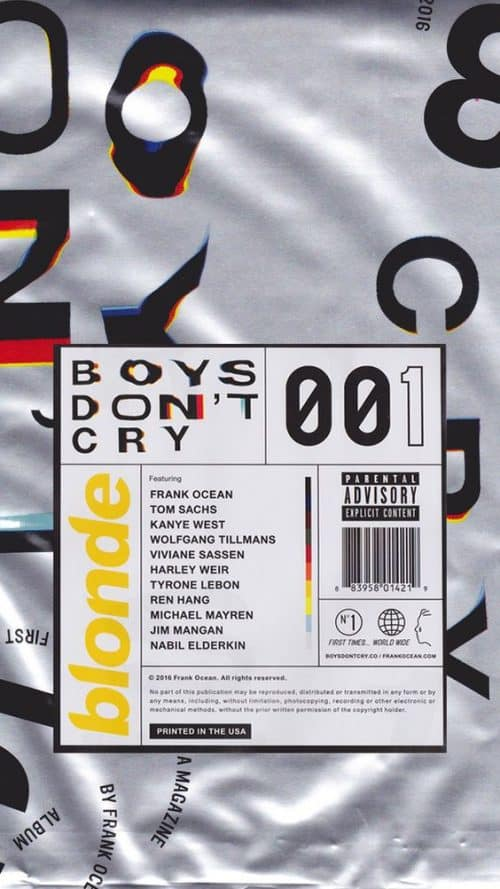 Boys Dont Cry Blonde Poster Design