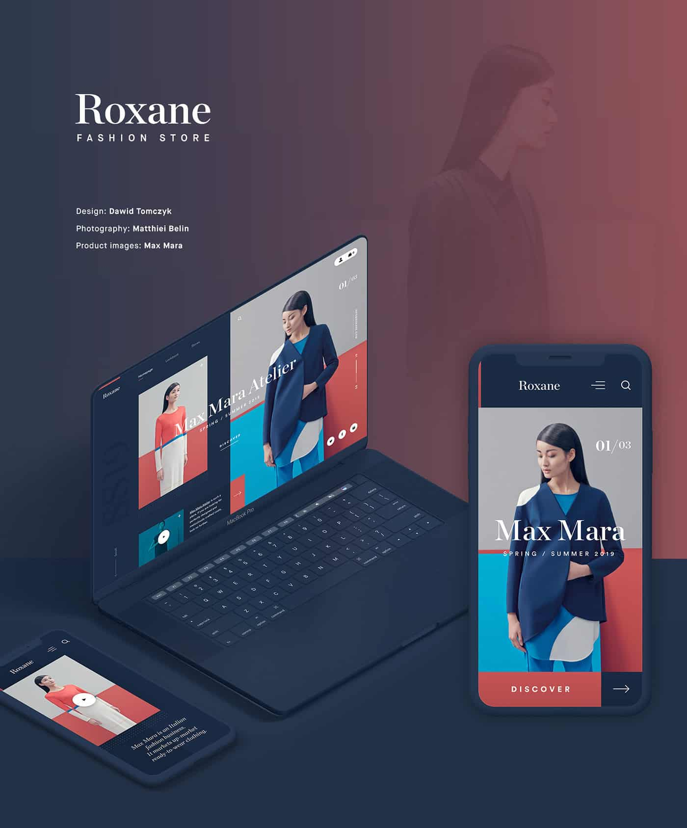 UI UX | Fashion Store Website Mock