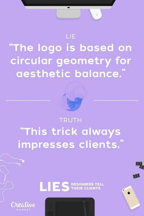 Graphic Design | Poster | Lies Designers Tell Their Clients 17