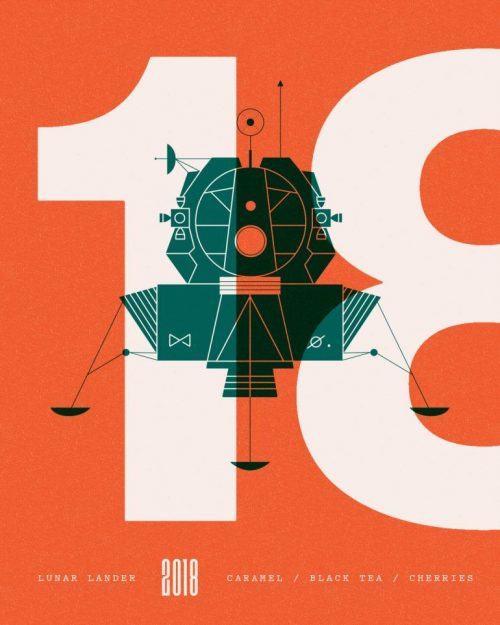 Graphic Design | Poster | Lunar Lander by Mike Smith