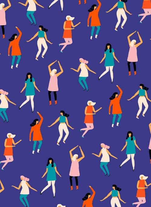 Patterns | Minimal Dancing Characters pattern