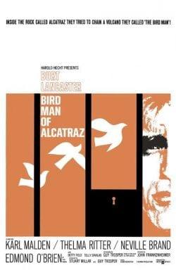 Graphic Design | Saul Bass Inspired Bird Man of Alcatraz Frankenheimer 1962 Key Art