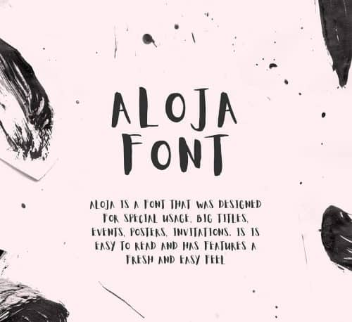 Free Font: Aloja › FreeTypography