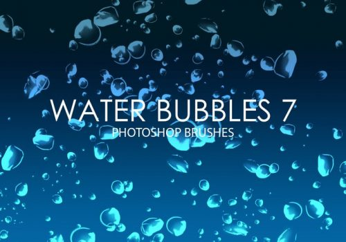 Free Water Bubbles Photoshop Brushes 7