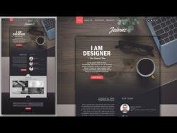 Photoshop Website Design Tutorial – Stylish Portfolio With Grain Texture – YouTube