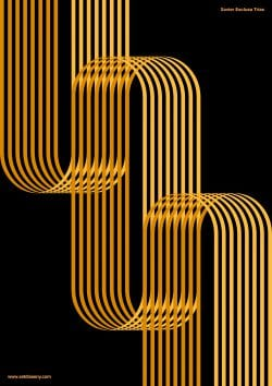 Poster by Xavier Esclusa Trias / Gold Lines on Behance