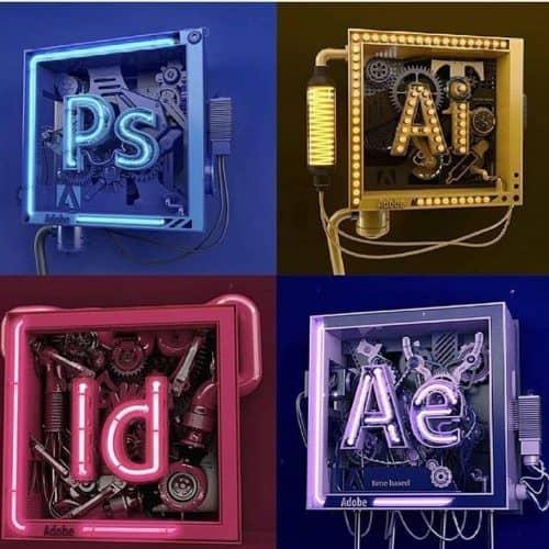 thedesignfix Maxon Cinema 4D C4D Adobe suite logos photoshop illustrator after effects indesign