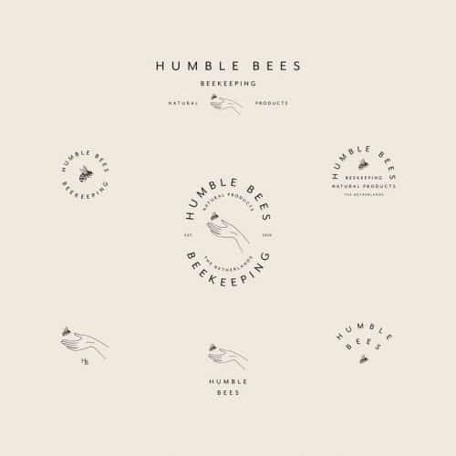 Logo   Humble Bees – Wordmark, logomar and crest concstructions – Modern sustainable ...