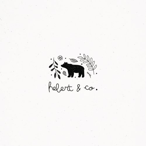 Logo | Bear illustration Sketches Animal Outdoor Woodland Woods Forest Branch Twig Leaves Trees  ...