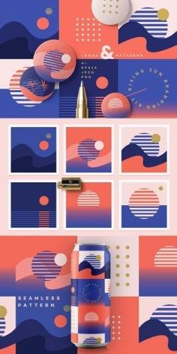 Rising Sun Branding Kit by Polar Vector on Behance