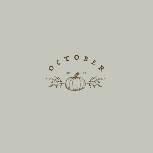 Logo | Hello October – Wordmark handdrawn and hand lettering