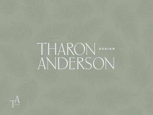 Logo | Tharon Anderson – Wordmark and logo by Amber Asay | dribbble.co