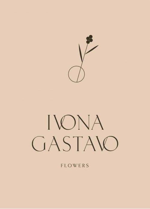 Logo   Ivona Gastavo – Wordmark for a Flower Boutique by Loolaa
