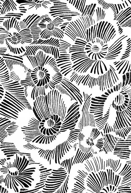Patterns | OLD NAVY HAVANA PREP X LLEW MEJIA Hand Drawn Floral Sketch