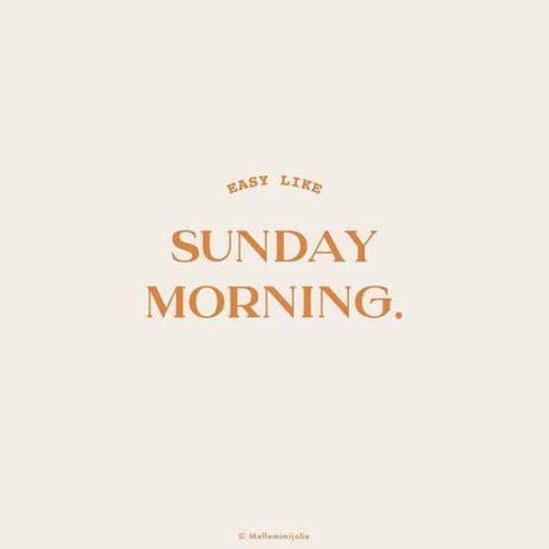 Logo | Sunday Morning – Wordmark by Sandrine Djellil
