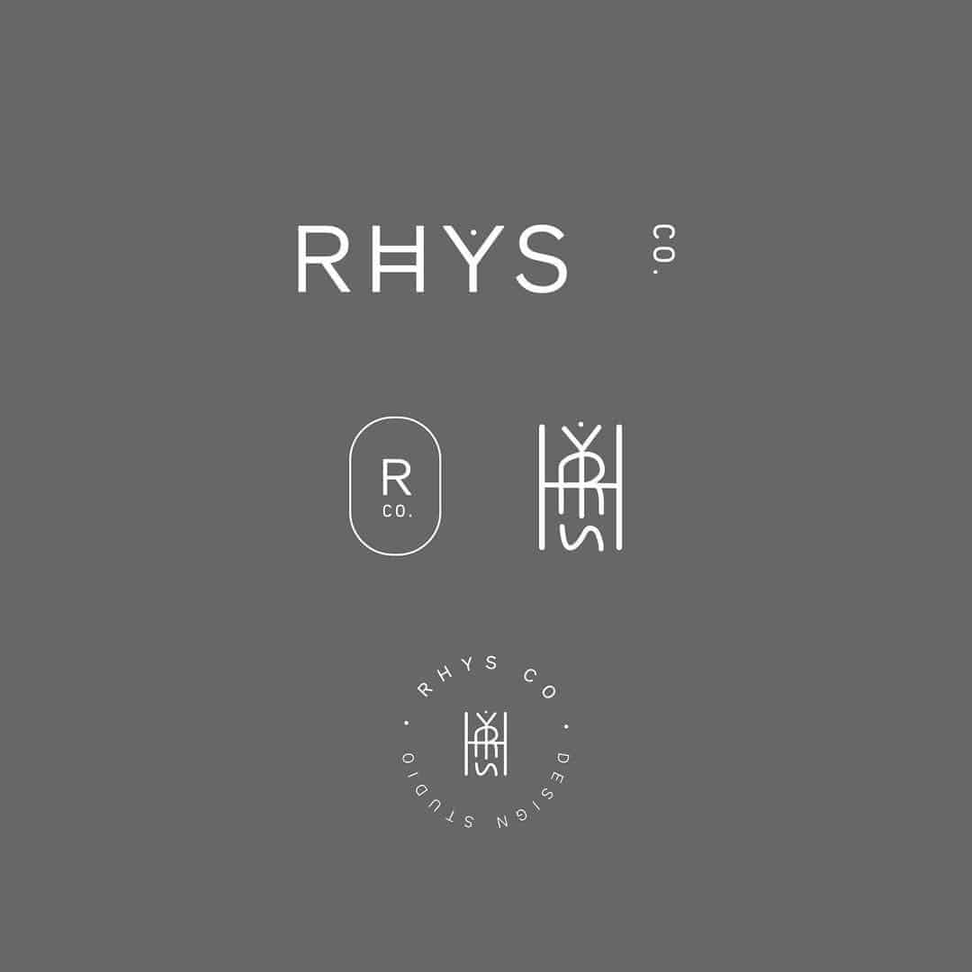 Logo | RHYS – Wordmark and crest constructions for rhysandco