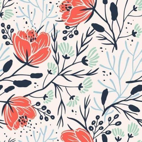 Patterns   Anna Aniskina Bright Floral Pattern