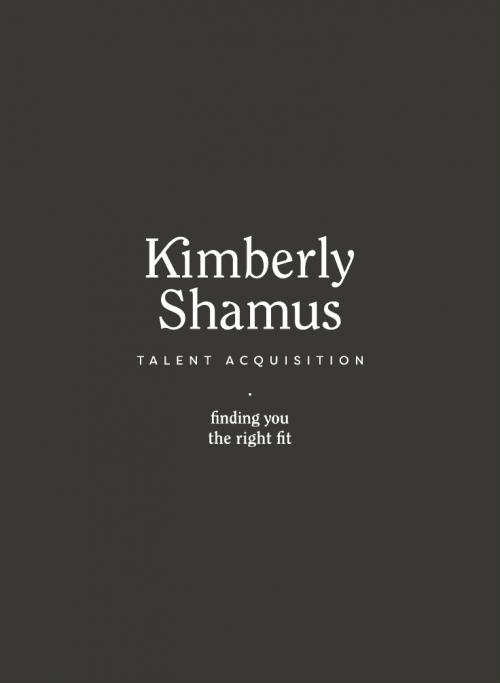 Logo | Kimberly Shamus Talent Acquisition Branding and Identity – Wordmark Design by Megha ...