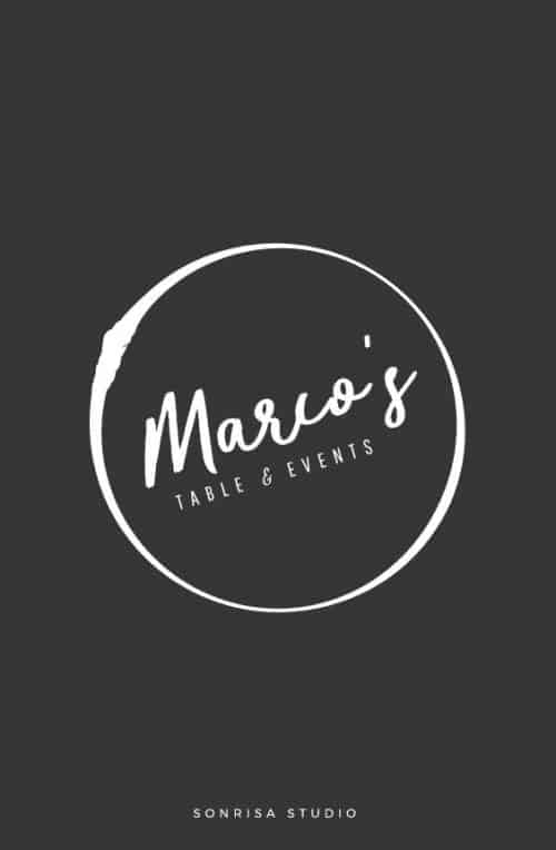 Logo | Marios – Wordmark and crest concept for startup restaurant. Brand identity.| sonris ...