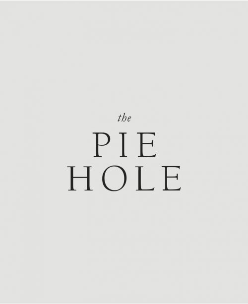 Logo | The Pie Hole – Wordmark and brand design by Kindred Studio | kindredstudio.c