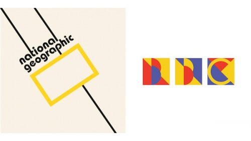 Graphic Design | Logos Redesigned In Bauhaus Style | National Geographic | BBC