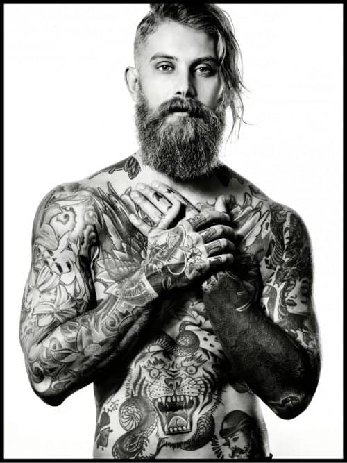 Photography – Levine Leavitt – Sophy Holland – Illustrated Man – Tattoo  ...