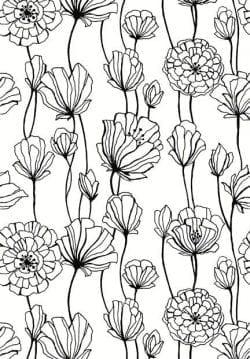 Patterns   Flora Vine Line Art Pattern