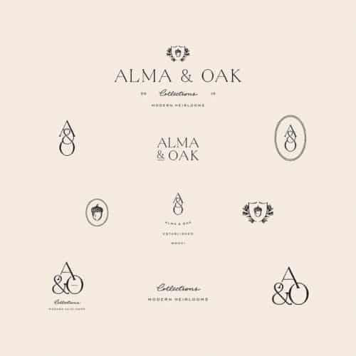 Logo | Alma & Oak – Monogram and wordmark concepts