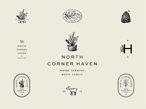 Logo   North Corner Haven – Wordmark, crest and logomark constructions by SDCO Partners