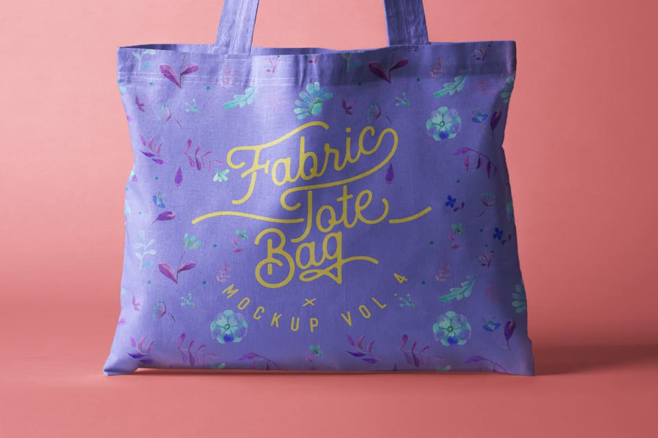 Assets | Psd Tote Bag Fabric Mockup Vol4 | Psd Mock Up Templates