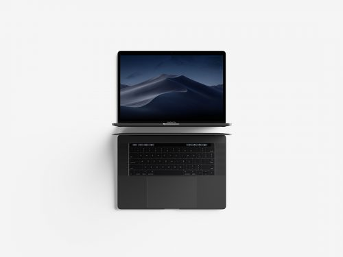 Asset | Modern Top View MacBook Pro Mockup