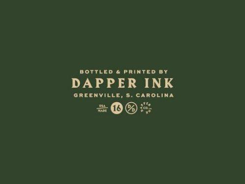 Logo | Bottled & Printed – Wordmark by Jacob Boyles for Dapper Ink