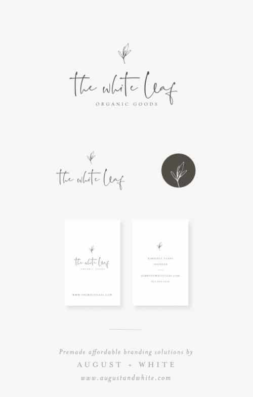Logo | Branding board with cute little logo using a modern signature script and rustic little il ...