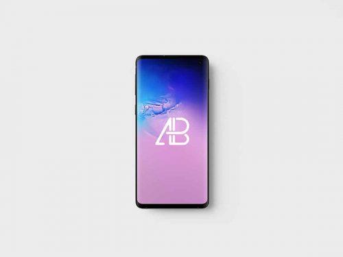 Asset | Samsung Galaxy S10 Top View Mockup