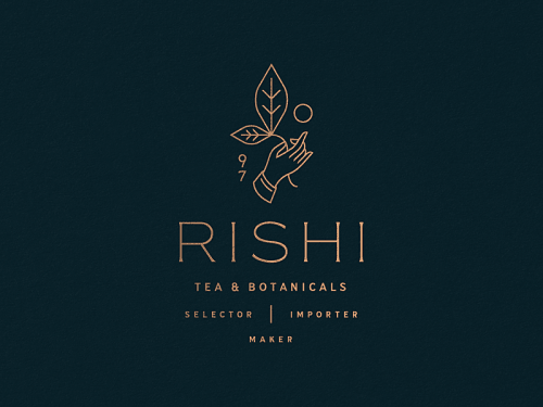 Logo | Rishi Tea & Botanicals – Wordmark and logomark