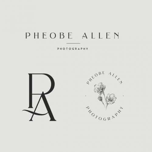 Logo | Pheobe Allen – Wordmark and monogram