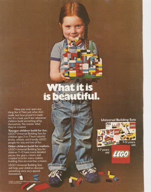What it is is beautiful – Absolutely adorable Classic Vintage Lego ad for kids and parents ...