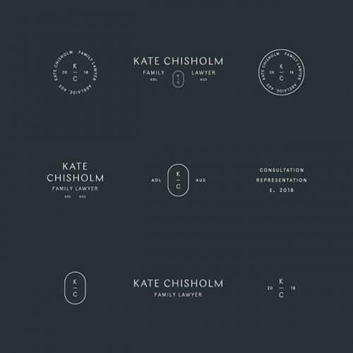 Logo   Kate Chisholm – Wordmarks and Monogram constructions project for todayatsaturday