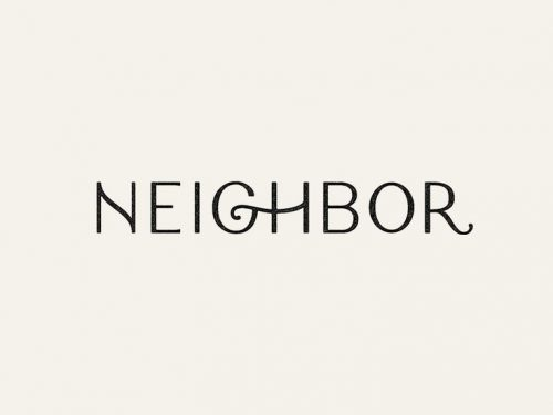 Logo | Neighbor – handlettering wordmark by Andrew Littmann