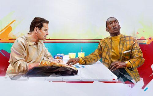 Illustration |Oscars 2019 | Best Picture Nominiees Illustrations – Denis Gonchar