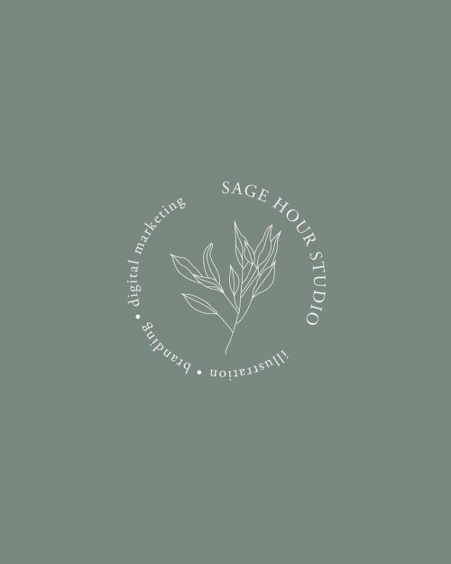 Logo | Sage Hour – Wordmark and crest