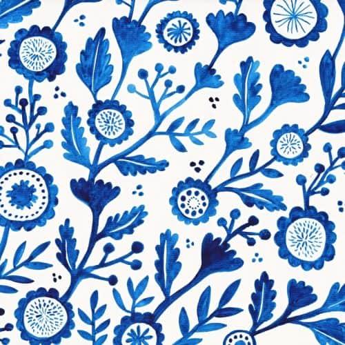 Patterns | Blue Florl Pattern from Stephanie Larkin
