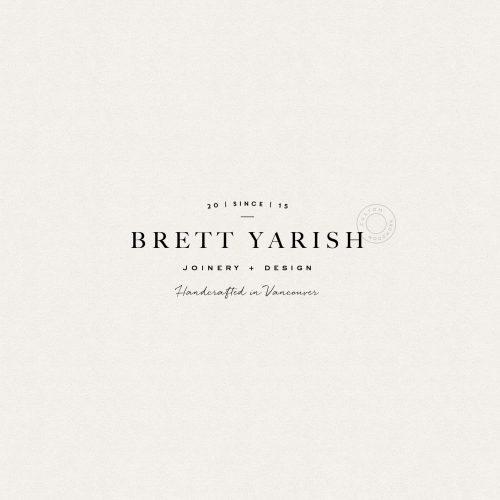 Logo | Brett Yarish – Wordmark, Modern Branding by Mel Volkman Clean Modern Organic Logo D ...