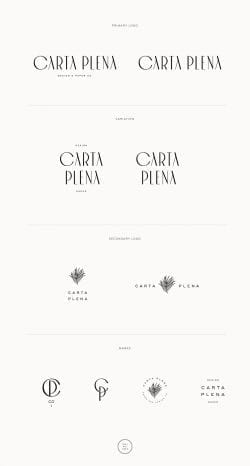 Logo | Carta Plena Custom Brand Design by Viola Hill Studio minimal refined typography weddingin ...