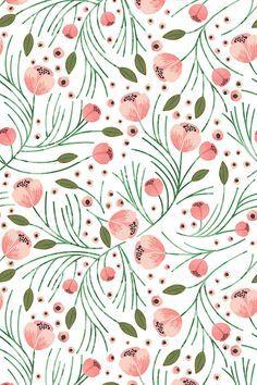 Patterns   Winter floral pine design by indie designer shopcabin This